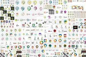 Vast collection of trendy logos
