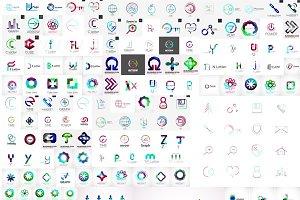 Trendy company logos jumbo set