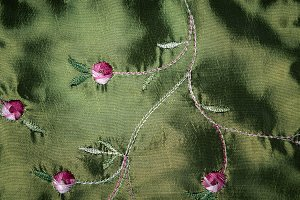 Flower Embroidery Background Texture