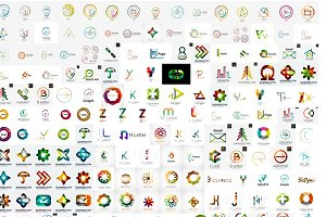 Over 200 trendy company logos
