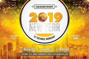 New Year Party Flyer 2019