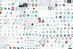 Over 200 of abstract business logos