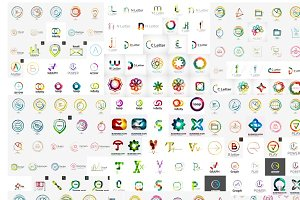 Geometric company logos collection