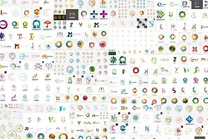 Large corporate logos collection