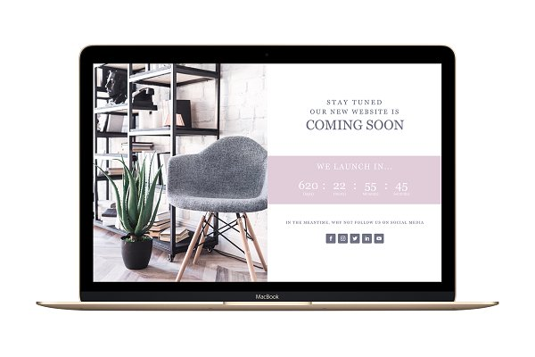 WordPress Landing Page Themes: Gillian Sarah - Coming Soon Landing Page Divi add-on
