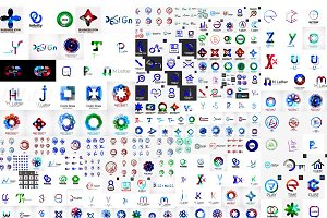 Jumbo set of corporate logotypes