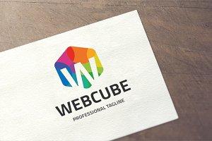 Letter W - Web Cube Logo