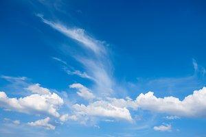 Blue sky. Nature background