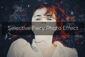 Selective Fiery Photo Effect