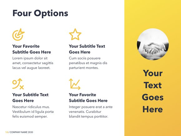Yellow Concept Keynote Template