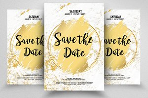 Save The Date Invite Flyer Template