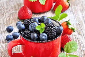 Ripe fresh berries