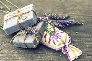 Lavender soap and sachet