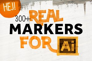 300+ REAL MARKERS FOR ILLUSTRATOR