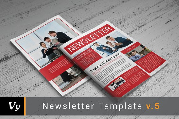 Corporate Newsletter Template Brochure Templates Creative Market – Corporate Newsletter Template