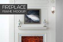 Fireplace Frame Mockup