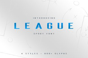 League Sport Typeface