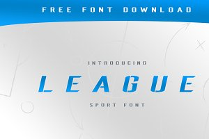 League Stencil Italic Typeface