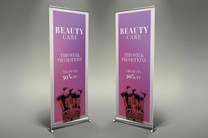 Beauty Saloon Roll Up Banner