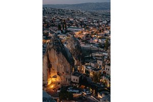 evening view of ancient city Goreme