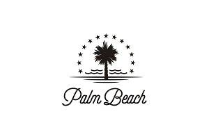 Palm Beach Silhouette for Hotel Logo