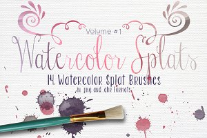 Watercolor Splats Vol. #1