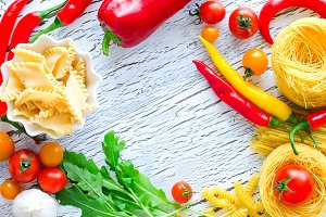 Cooking ingredients copy space