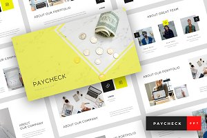 Paycheck - PowerPoint Template