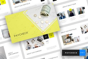 Paycheck - Keynote Template