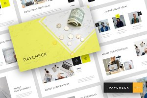 Paycheck - Google Slides Template