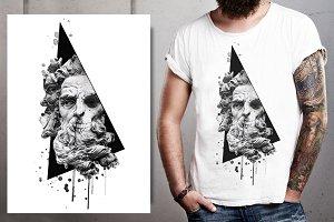 Poseidon skull illustration-Artwork