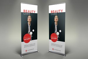 Beauty Saloon Roll-Up Banner