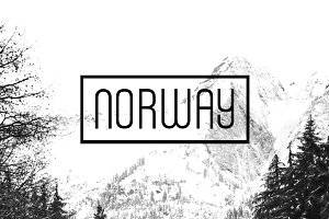 NORWAY - Unique Display Typeface