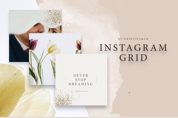 Instagram Templates: Kristina&Co - Instagram Grid