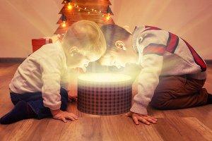 Merry Christmas! happy children