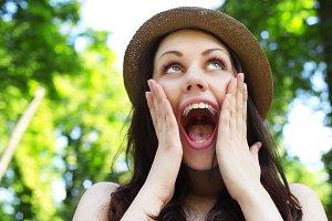 Surprised woman