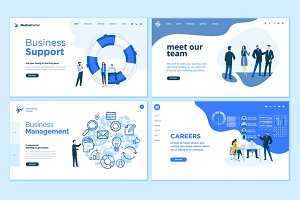 Set of Business Web Page Designs