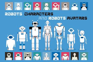 Robots Characters & Avatars