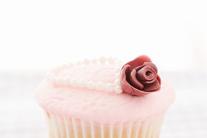 Vintage decorated cupcake