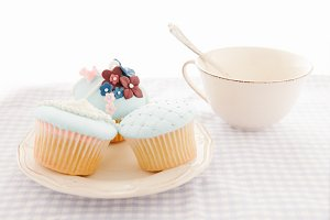 Cupcakes and white cup