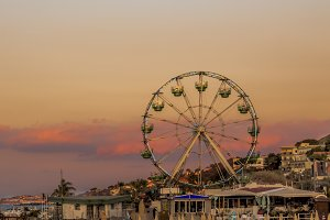 Evening ferris wheel of Lacco Ameno,