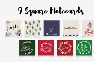 Hand Drawn Christmas Cards Elements