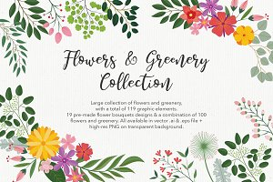 Large Flowers & Greenery Collections