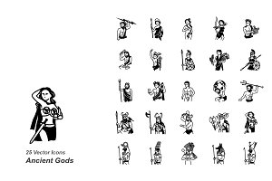 Ancient Gods vector icons