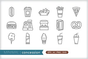 Minimal concession icons