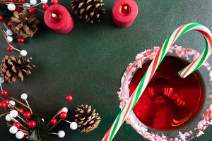 Christmas Cocktails & Candy Canes