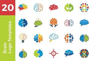 20 Logo Brain Template Bundle