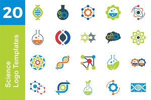 20 Logo Science Template Bundle