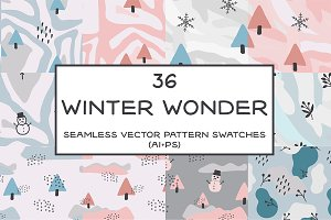 Winter Wonder Seamless Patterns