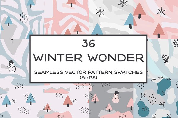 Graphic Patterns: BAD TASTE - Winter Wonder Seamless Patterns